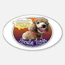PoodleTurds.com Oval Decal