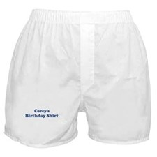 Corey birthday shirt Boxer Shorts