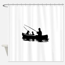 FAMILY FISHING Shower Curtain