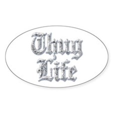 Diamond Bling THUG LIFE Decal