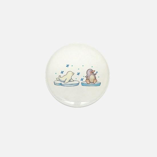 SEAL AND PENGUIN Mini Button