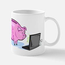 Piggy Bank And Laptop Mugs