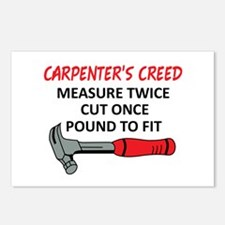 Carpenter's Creed Postcards (Package of 8)
