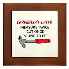 Carpenter's Creed Framed Tile