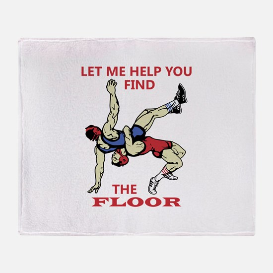 Let Me Help You Throw Blanket