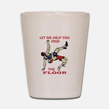 Let Me Help You Shot Glass