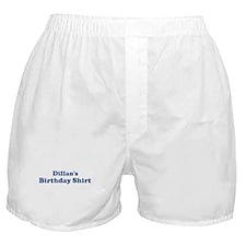 Dillan birthday shirt Boxer Shorts