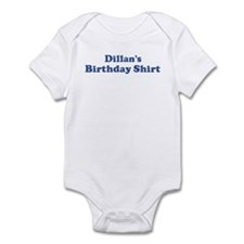 Dillan birthday shirt Infant Bodysuit