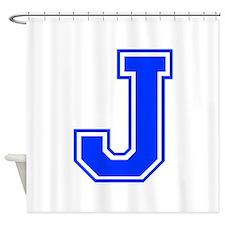 J-Var blue Shower Curtain