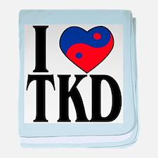 I heart TKD 4x4.png baby blanket
