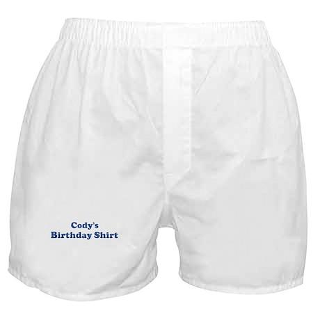 Cody birthday shirt Boxer Shorts