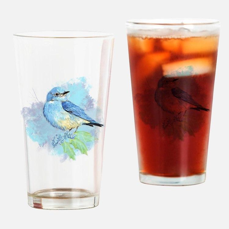 Watercolor Bluebird Pretty Blue Garden Bird Art Dr