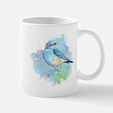 Watercolor Bluebird Pretty Blue Garden Bird Art Mu