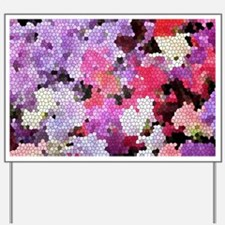 Sweet peas color stained glass pattern s Yard Sign