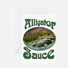 Alligator Sauce Greeting Cards (Pk of 10)
