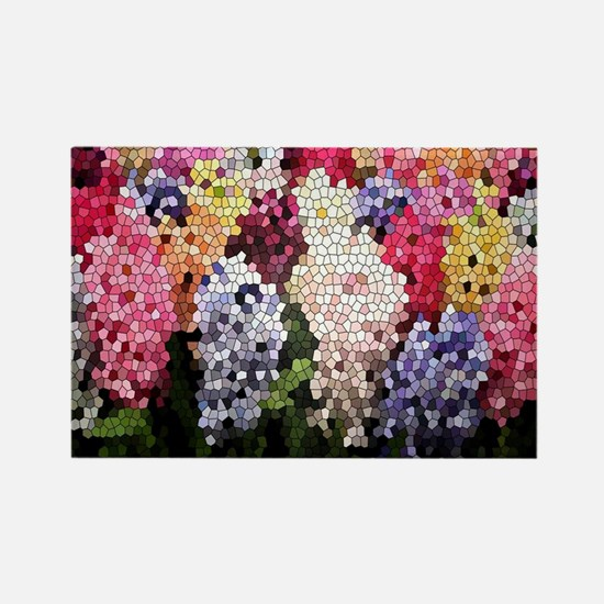 Hyacinths color stained glass pat Rectangle Magnet