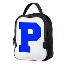 P-Fre blue Neoprene Lunch Bag