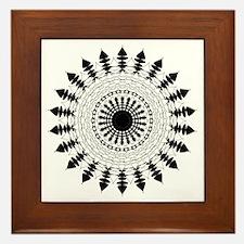 Black and White Mandala Flower Framed Tile