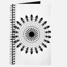Black and White Mandala Flower Journal