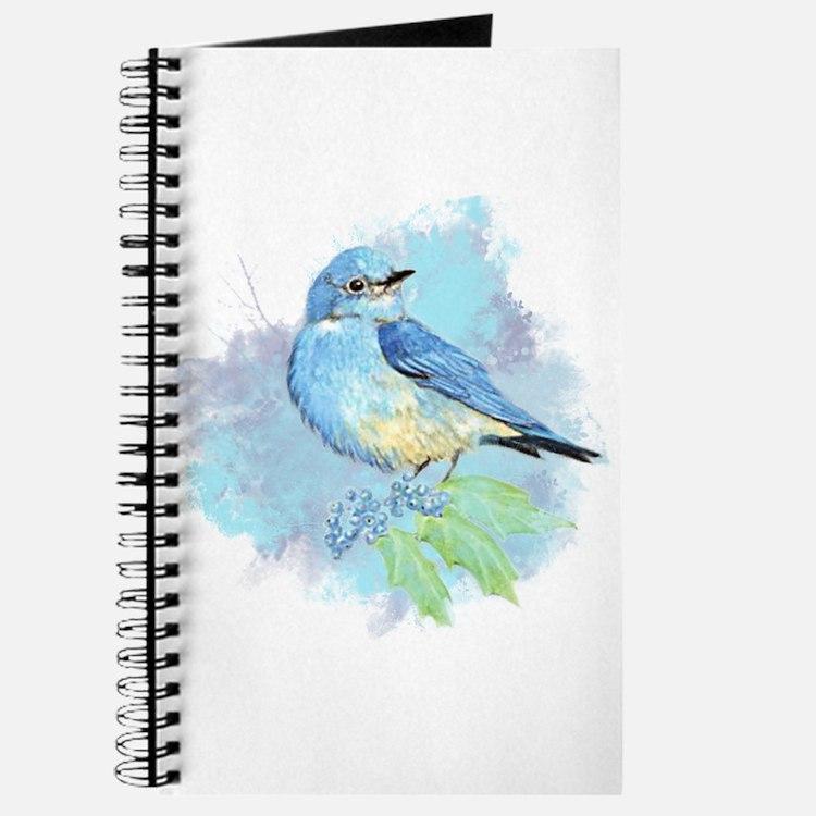 Watercolor Bluebird Pretty Blue Garden Bird Art Jo