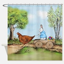 Easter Bunny on the Road Shower Curtain