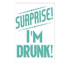 Surprise I'm Drunk Postcards (Package of 8)
