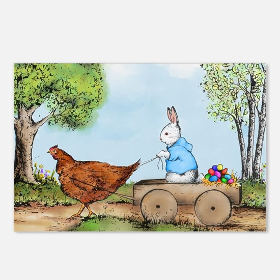 Easter Bunny on the Road Postcards (Package of 8)
