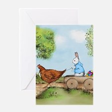 Easter Bunny on the Road Greeting Cards