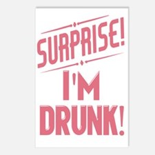 Surprise I'm Drunk Postcards (Package of 8)