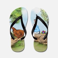 Easter Bunny on the Road Flip Flops