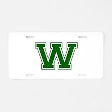 W-Var d green Aluminum License Plate