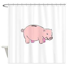 Piggy Bank Shower Curtain