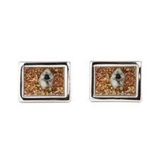 Puppy Keeshond Rectangular Cufflinks