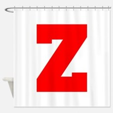 Z-Fre red Shower Curtain