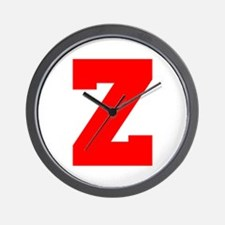 Z-Fre red Wall Clock
