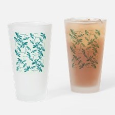 Dragonfly Frenzy Turquoise Drinking Glass