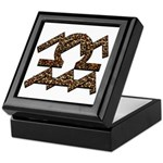Aquarius & Libra Leopard Keepsake Box