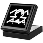 Aquarius & Libra White on Black Keepsake Box