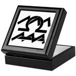 Aquarius & Libra Black on White Keepsake Box