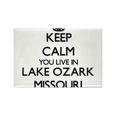Keep calm you live in Lake Ozark Missouri Magnets