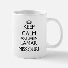 Keep calm you live in Lamar Missouri Mugs