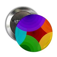 """Rainbow Roundabout 2.25"""" Button (100 pack)"""