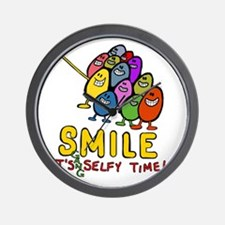 smile! It's Selfie Time! Wall Clock