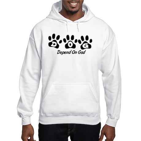 Black DOG Hooded Sweatshirt