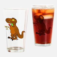 Puppeteer Tyrannosaurus Drinking Glass