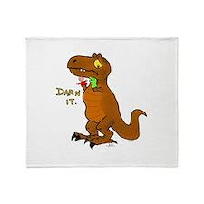 Puppeteer Tyrannosaurus Throw Blanket