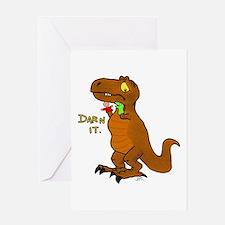 Puppeteer Tyrannosaurus Greeting Cards