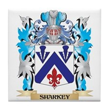 Sharkey Coat of Arms - Family Crest Tile Coaster