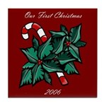 First Christmas 2006 Tile Coaster