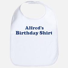 Alfred birthday shirt Bib